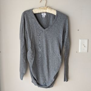 Gray Long sleeved maternity sweater